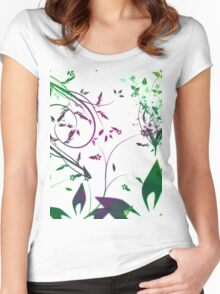 Nature, flowers, plants Women's Fitted Scoop T-Shirt