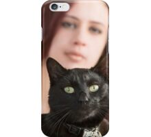 Eddie the cat and Lesley iPhone Case/Skin