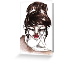 woman&cigarette 1 Greeting Card