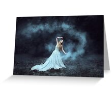 Moonlight girl  Greeting Card