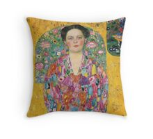 Gustav Klimt  - Portrait of Eugenia Primavesi Throw Pillow