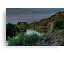 Salt River in Moonlight Canvas Print