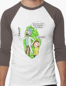 Rick and Morty awesome Men's Baseball ¾ T-Shirt