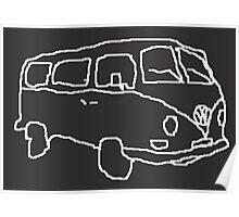Sketchy Camper Poster