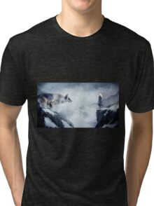 The wolf and the moon Tri-blend T-Shirt