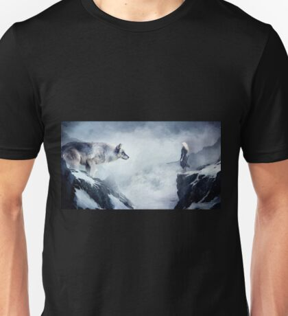 The wolf and the moon Unisex T-Shirt