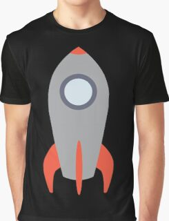 Retro Rocket Ship Graphic T-Shirt