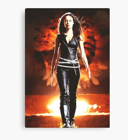 Summer Glau - BADASS WOMEN Canvas Print