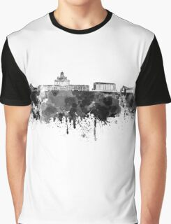 Helsinki skyline in black watercolor Graphic T-Shirt