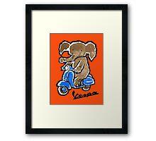 Vespa Riding Elephant Framed Print