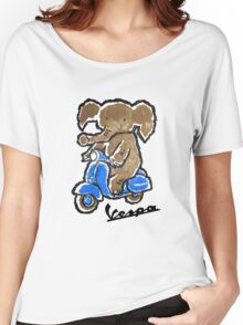 Vespa Riding Elephant Women's Relaxed Fit T-Shirt