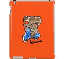 Vespa Riding Elephant iPad Case/Skin