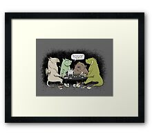 Monsters love RPGs Framed Print