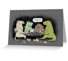 Monsters love RPGs Greeting Card