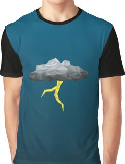 Thunder Cloud Low Poly Graphic T-Shirt