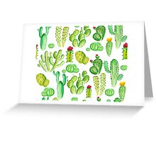 watercolor cactus Greeting Card