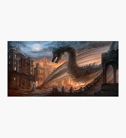 Dragon fight - Elegy of Fire Photographic Print