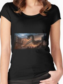 Dragon fight - Elegy of Fire Women's Fitted Scoop T-Shirt
