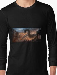 Dragon fight - Elegy of Fire Long Sleeve T-Shirt