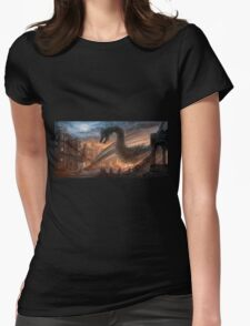 Dragon fight - Elegy of Fire Womens Fitted T-Shirt