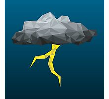 Thunder Cloud Low Poly Photographic Print