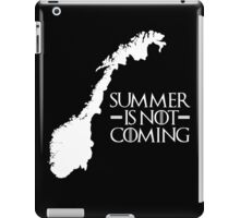 Summer is NOT coming - norway(white text) iPad Case/Skin