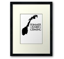 Summer is NOT coming - norway(black text) Framed Print