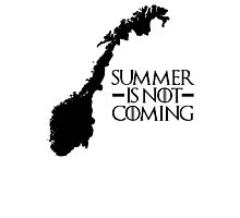 Summer is NOT coming - norway(black text) Photographic Print