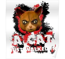 Mad Dogs Cat Shirt Poster