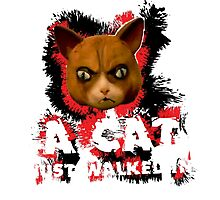 Mad Dogs Cat Shirt Photographic Print