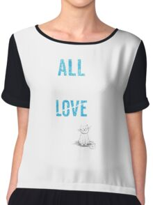 All You Need Is A Cat TShirt Adopt Pet Kids Need Love Too Womens Pets Rescue Ladies Tee Chiffon Top