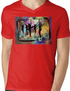 Dancing in Shrangri-La Mens V-Neck T-Shirt