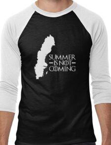 Summer is NOT coming - sweden(white text) Men's Baseball ¾ T-Shirt