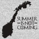 Summer is NOT coming - norway(black text) by Herbert Shin