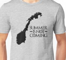 Summer is NOT coming - norway(black text) Unisex T-Shirt