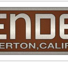 1953 Fender fullerton california amp Sticker
