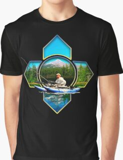Pontoon Boat Fishing Graphic T-Shirt