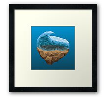Low Poly Wave Framed Print