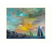 Easy Sailings Art Print