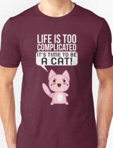 Life Complicated Shirt T Gets Cats Meow Pets Animal Long Sleeve Novelty Simple Tee T-Shirt