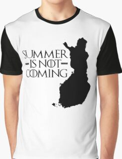 Summer is NOT coming - finland(black text) Graphic T-Shirt
