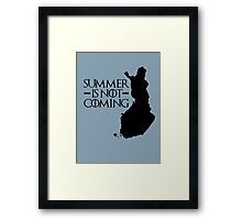 Summer is NOT coming - finland(black text) Framed Print