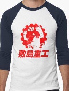 New Gigantor Tetsujin-28 go Shikishima Heavy Industries Japan Retro Mecha Anime Men's Baseball ¾ T-Shirt
