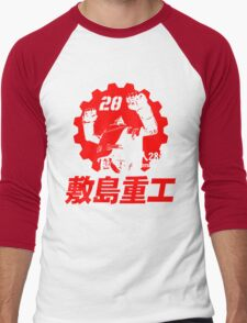 New Gigantor Tetsujin-28 go Shikishima Heavy Industries Japan Retro Mecha Anime Men's Baseball ¾ T-Shirt