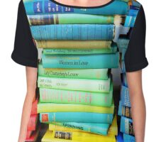 Rainbow Vintage Book Chiffon Top