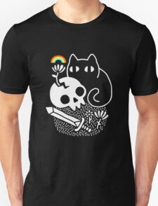 Bully Cat T Shirt Men Short Sleeve Print Shirts Cat with Skull Knife Tee Fashion Casual Top Funny Women New Graphic Summer Popular Unisex T-Shirt