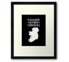 Summer is NOT coming - ireland(white text) Framed Print