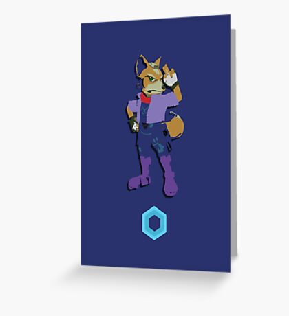 Fox McCloud - Super Smash Brothers Greeting Card
