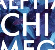 Crystal Alpha Chi Omega Sticker
