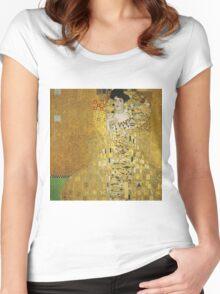 Gustav Klimt  - Portrait of Adele  Women's Fitted Scoop T-Shirt
